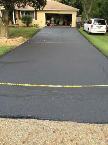 driveway seal coating after